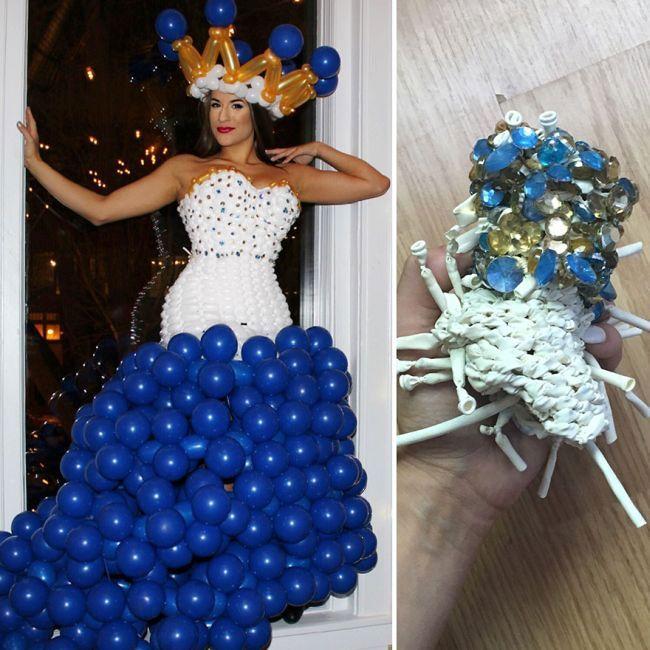 Платья из воздушных шариков через месяц после создания