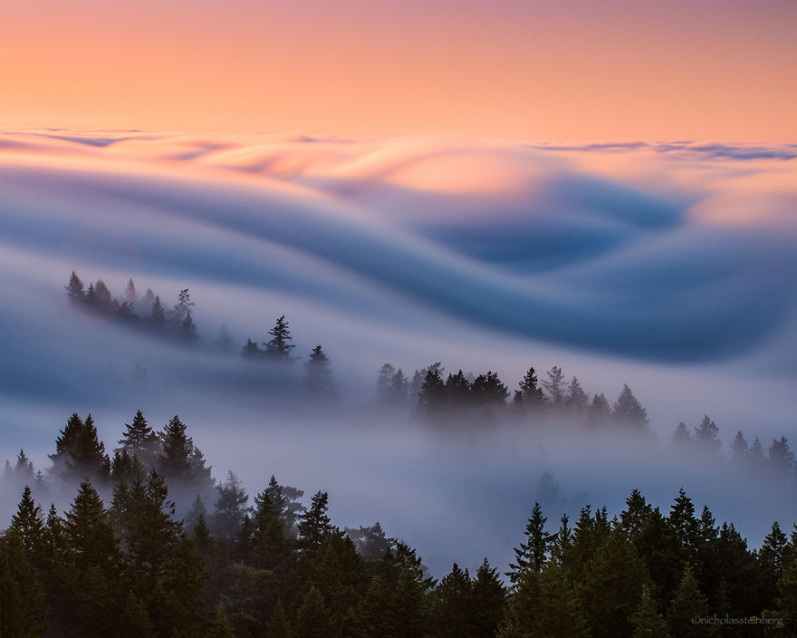 Красивые волны тумана от Ника Стейнберга