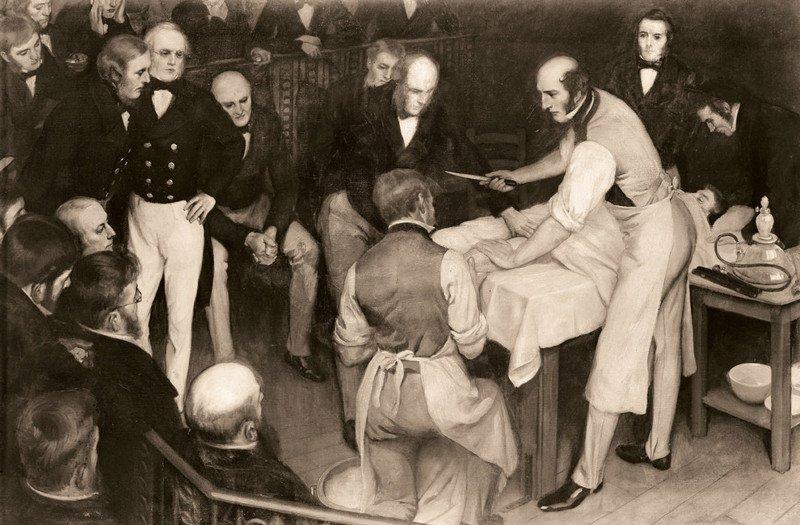 Подробные иллюстрации викторианской хирургии