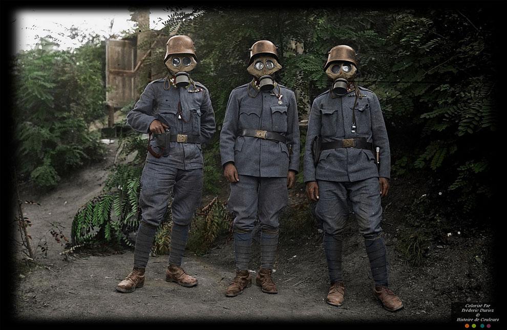 Цветные снимки солдат Первой мировой войны