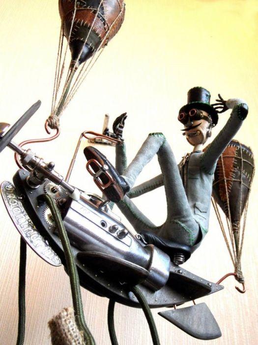 Потрясающие стимпанк-роботы от Машинариуса