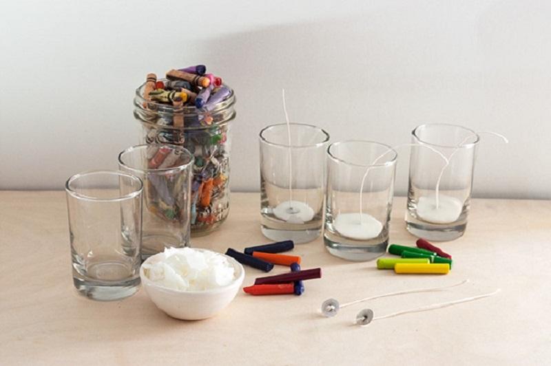 Как сделать свечку своими руками в стакане 14