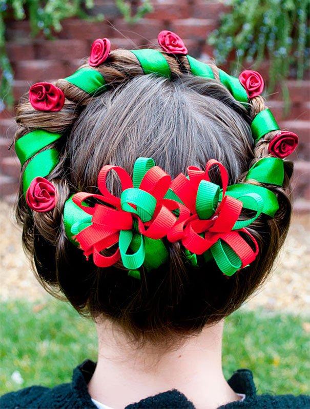 Креативные новогодние причёски