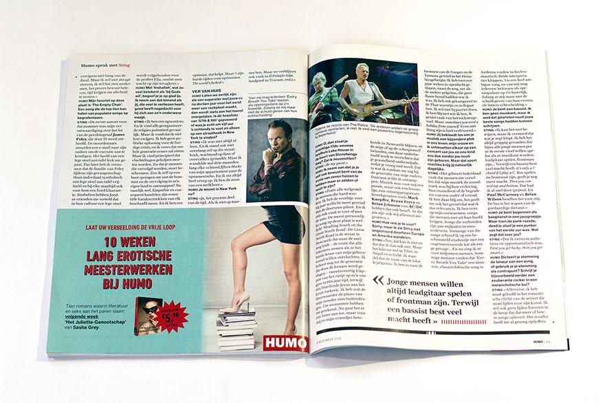 Скрытая эротическая реклама в журнале Humo