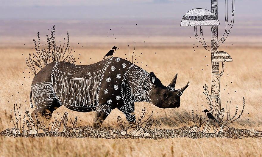 Фотографии животных в этническом стиле
