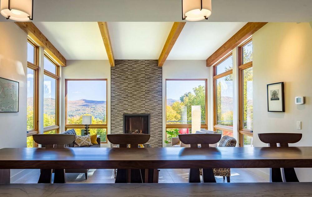 Современный дом в зеленых горах штата Вермонт