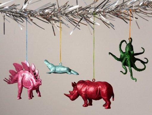 Оригинальные ёлочные игрушки из подручных предметов