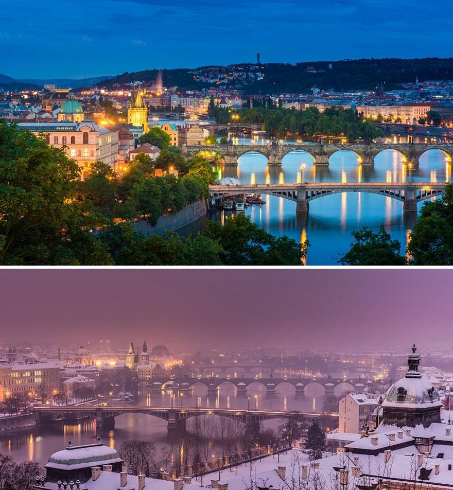 Зимние преображения: до и после