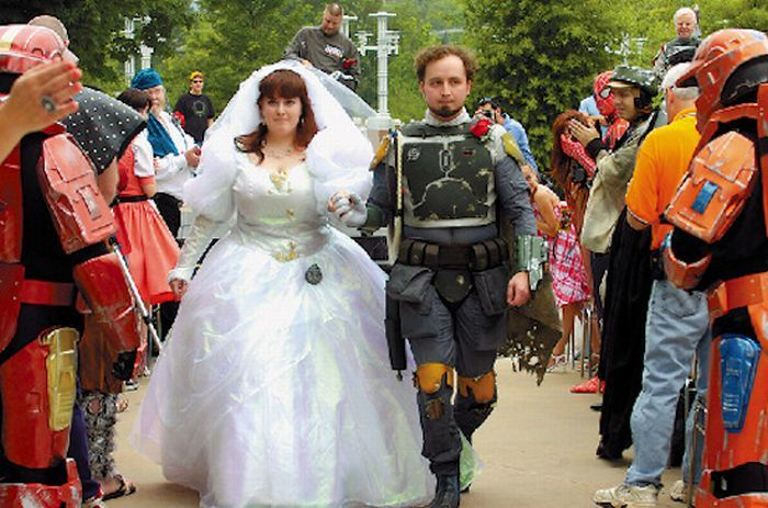 Необычные свадьбы и свадебные наряды