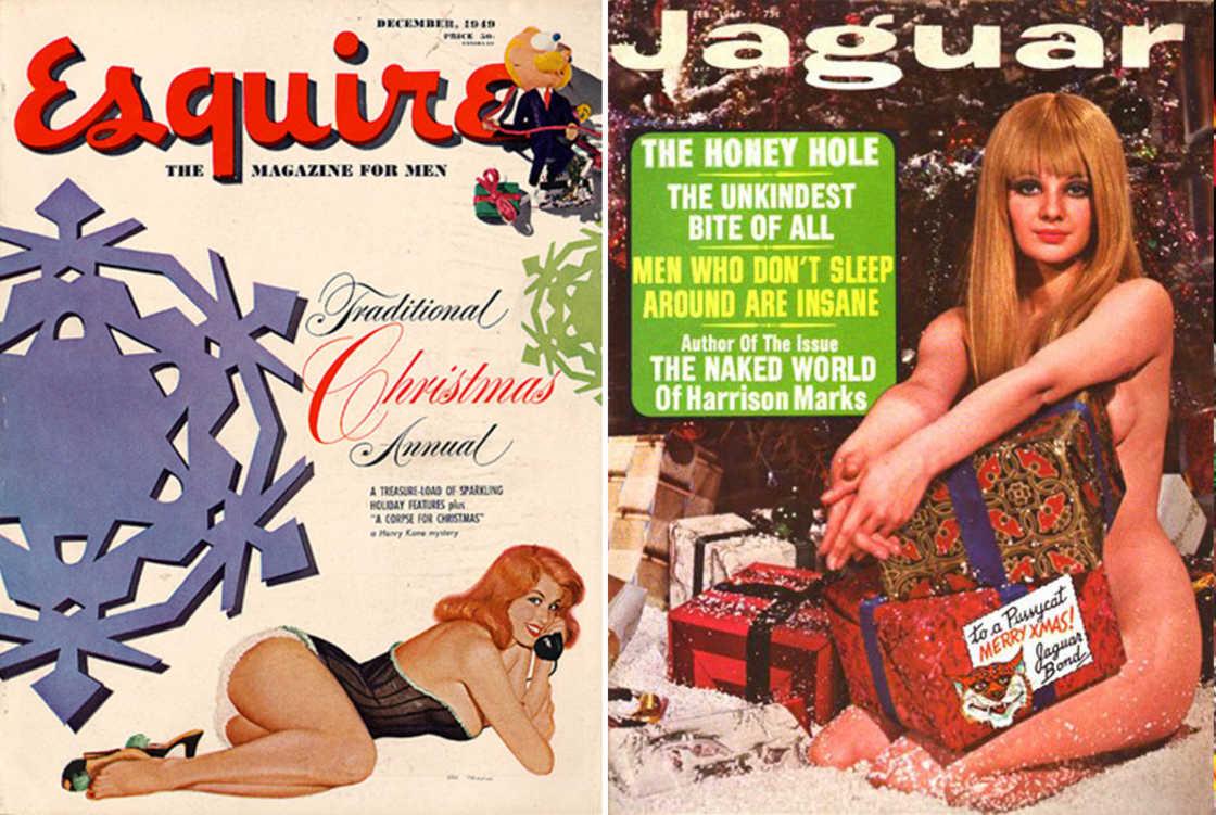 Рождественские обложки мужских журналов