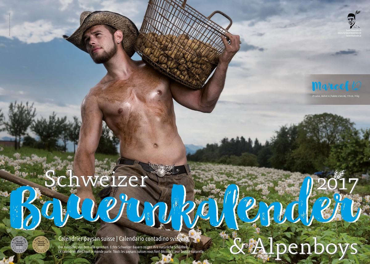 Швейцарские фермеры в горячем календаре