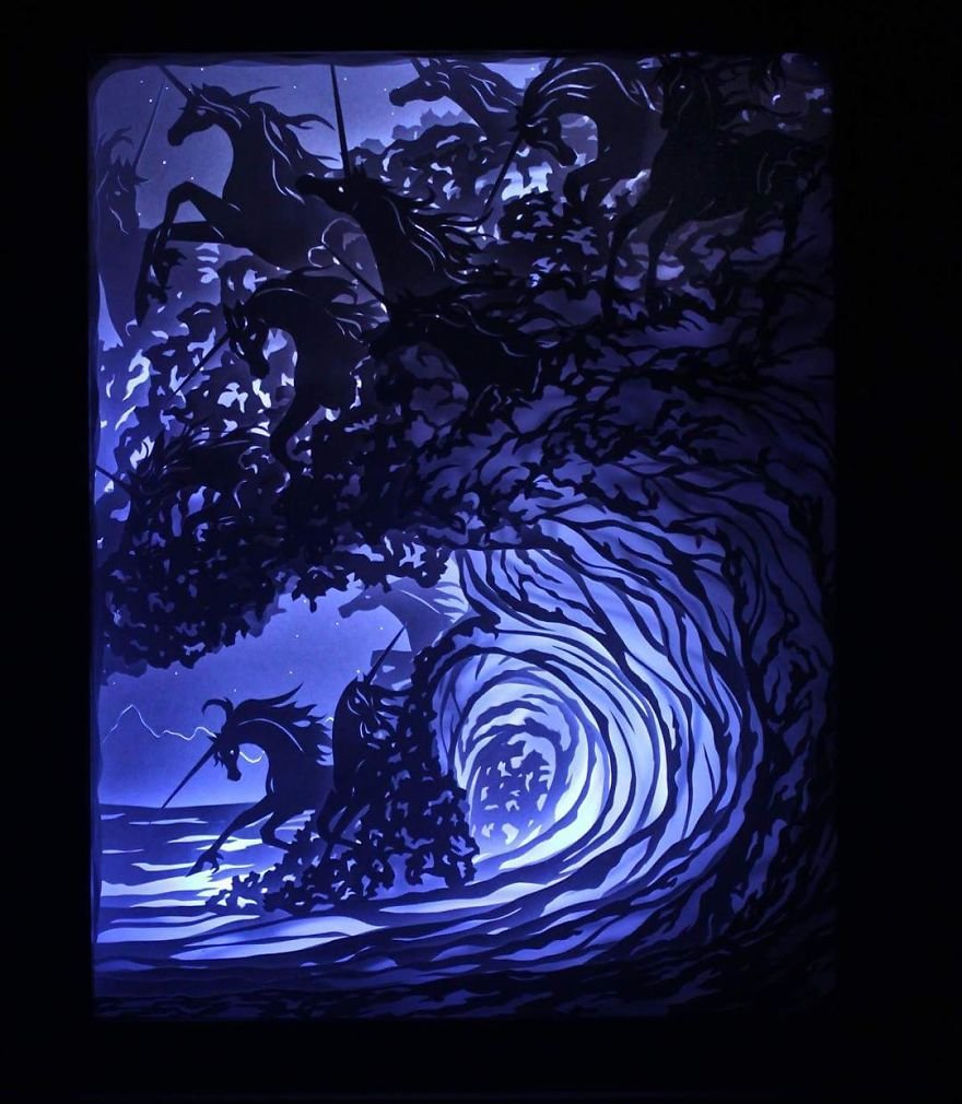 Объёмные световые картины от Бриттани Кокс