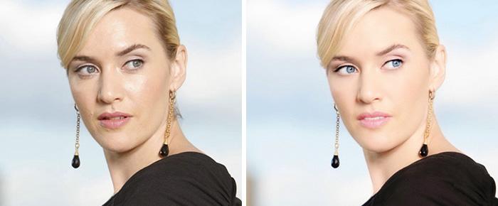 Знаменитости до и после фотошопа