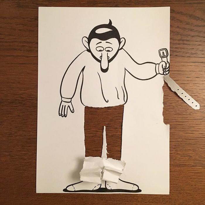 Креативные рисунки от художника HuskMitNavn