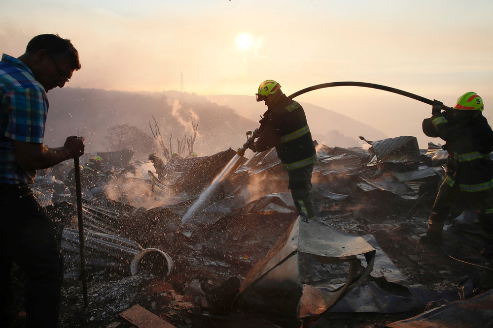Крупный лесной пожар в Чили