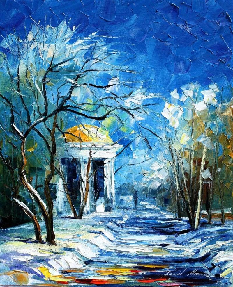 Зима в картинах современных художников