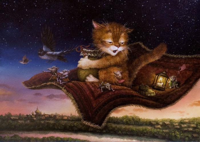 Приключение кота Кузьмы в сказочных работах Александра Маскаева