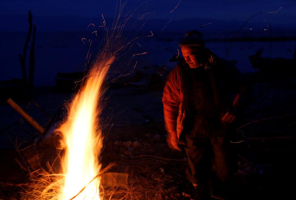 Зимняя рыбалка в Македонии