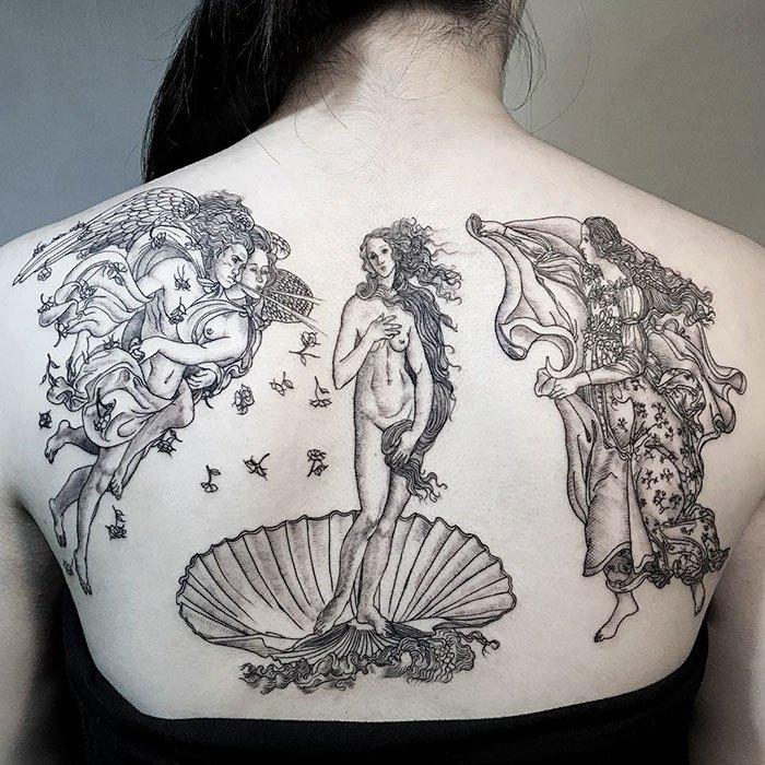 Татуировки, вдохновлённые творчеством известных художников