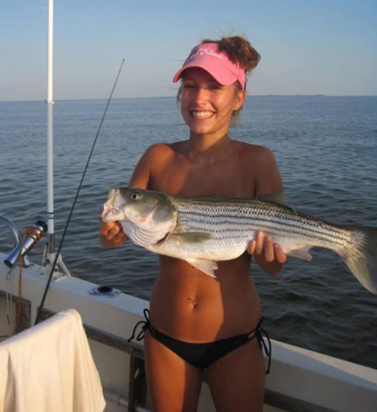 Красивые девушки-рыбачки
