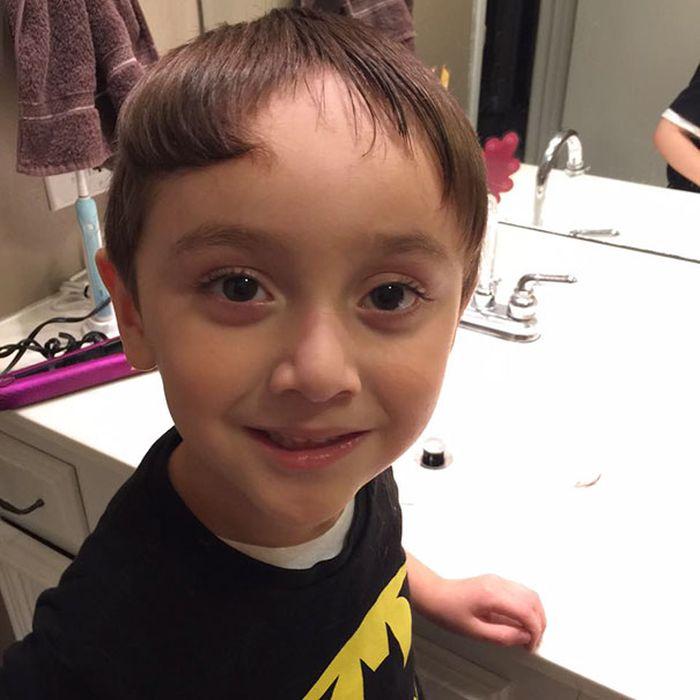 Когда детки сами себя постригли