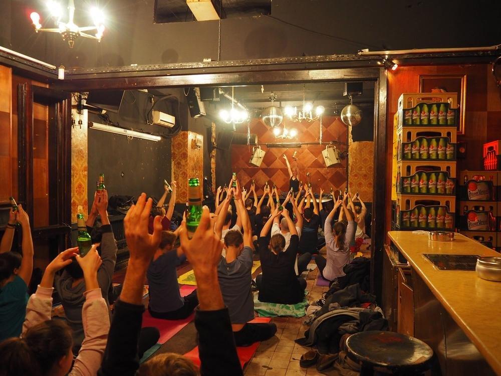 Пивная йога покоряет мир
