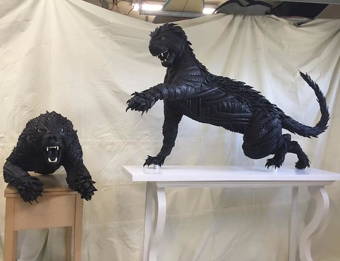 Скульптуры из шин от бейсболиста Блейка Макфарлэнда