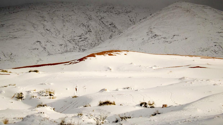 Снег в пустыне Сахара