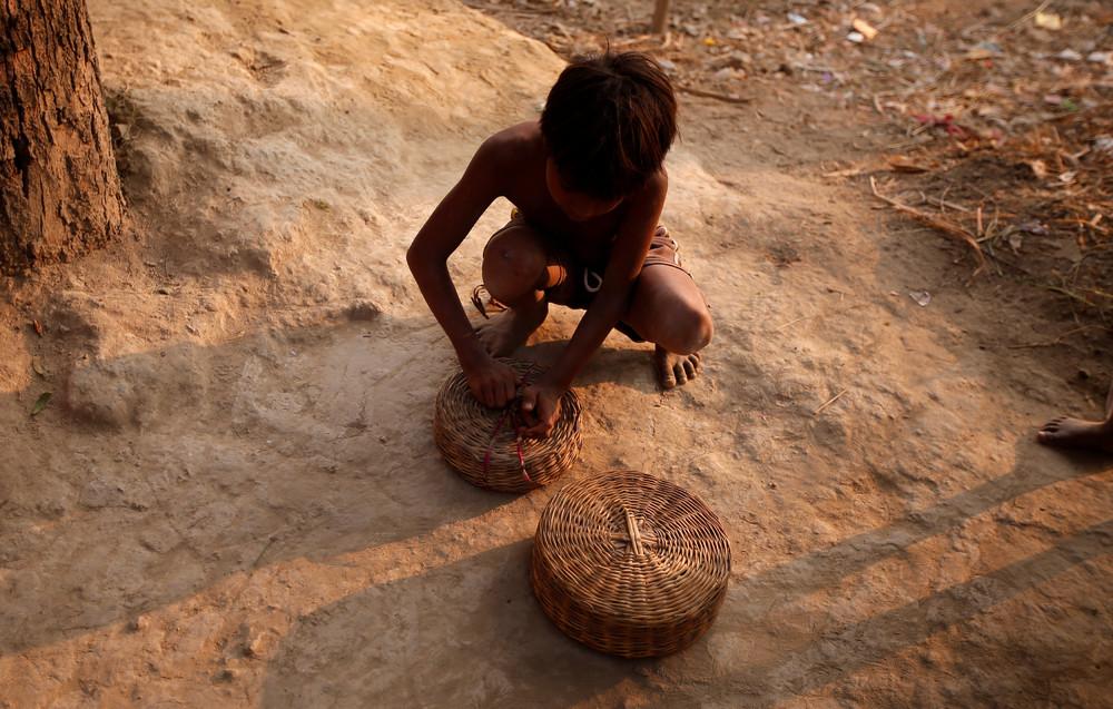 Деревня заклинателей змей в Индии