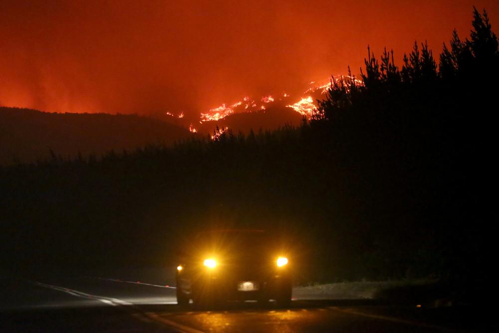 Масштабные лесные пожары в Чили