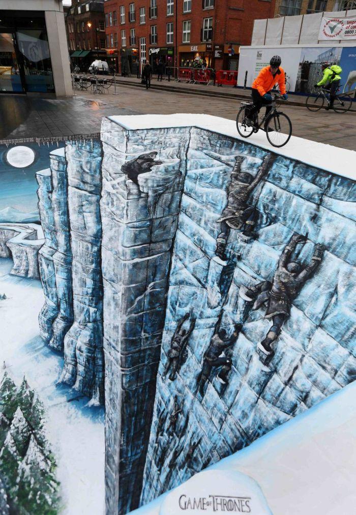 Потрясающие 3D-рисунки от уличных художников