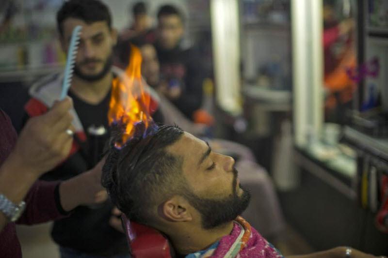 Горячая парикмахерская в Газе