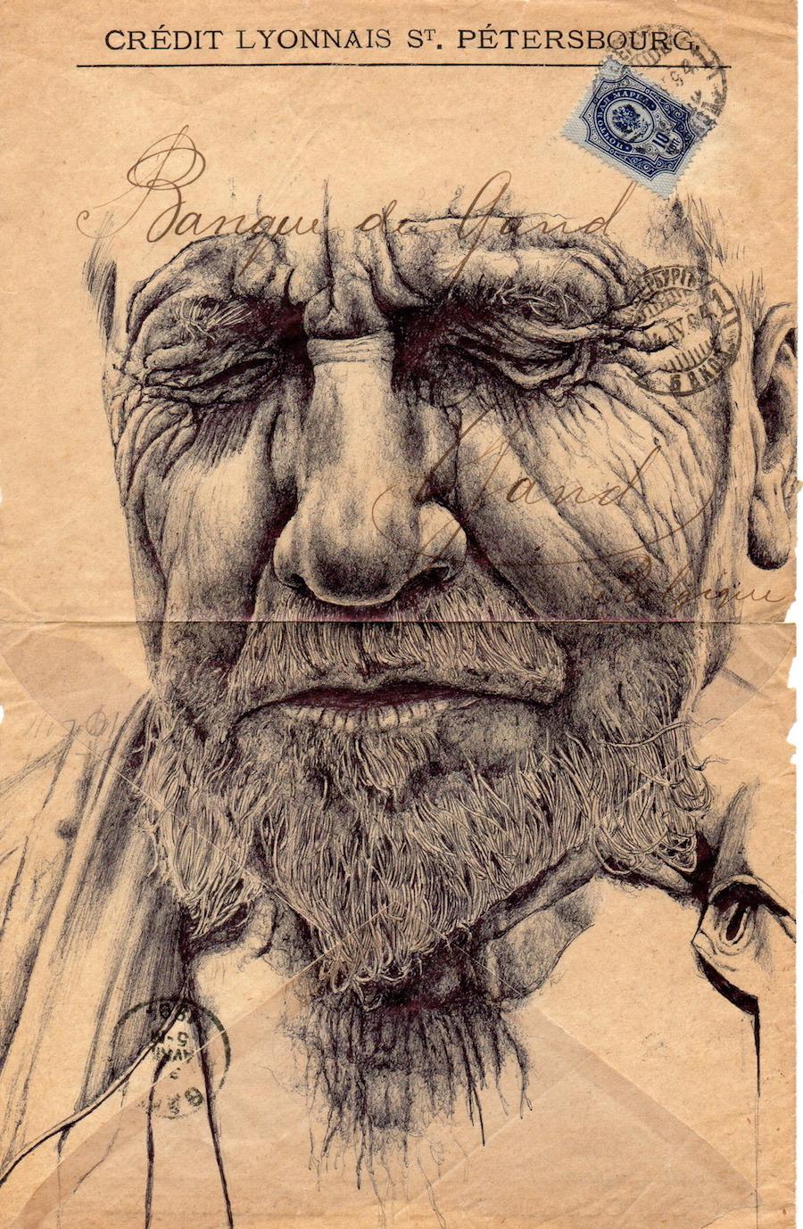 Гиперреалистичные картины, написанные обычной шариковой ручкой