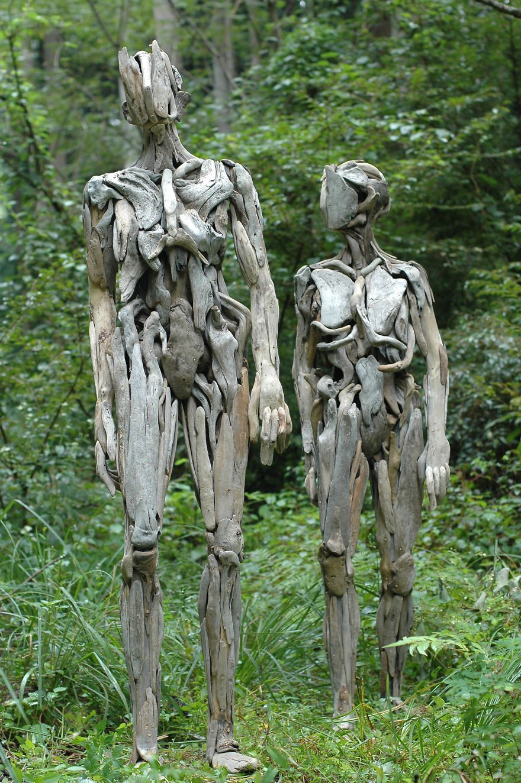 Скульптуры из коряг от Нагато Ивасаки