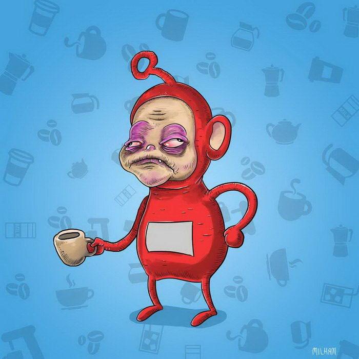 Забавные кофеманы от Samuel Milham