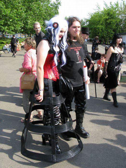 На фестивале готов Wave-Gotik-Treffen Festival в Германии