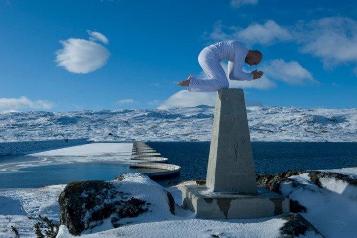 Смертельные трюки норвежского акробата