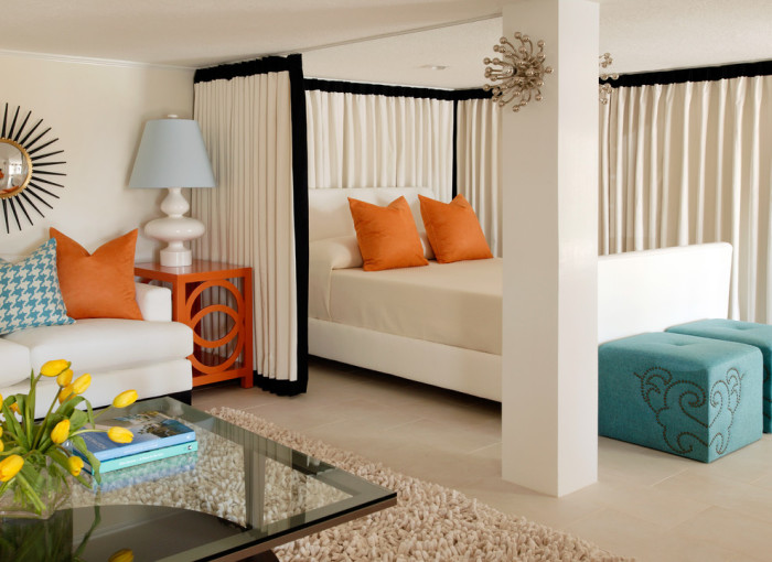 15 практичных идей, как правильно совместить спальню с гостиной