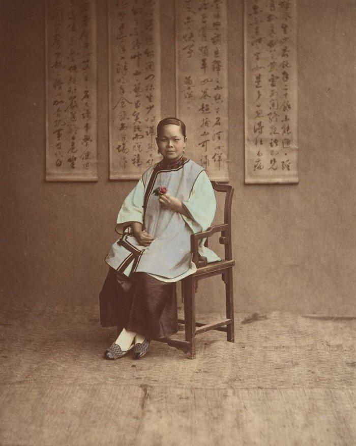 Раскрашенные фото жителей Китая в 1875 году
