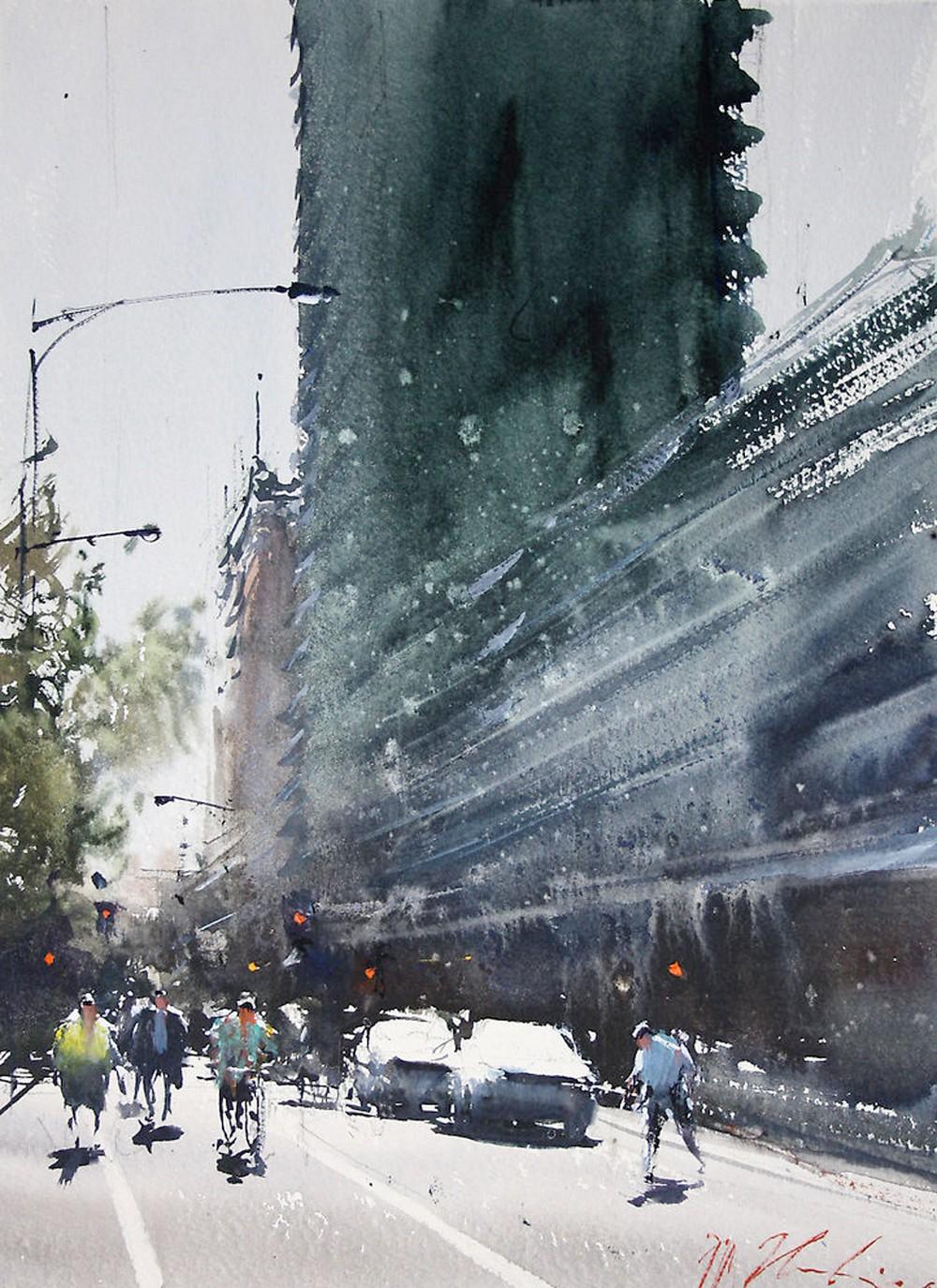 Акварельная живопись Джозефа Збуквича