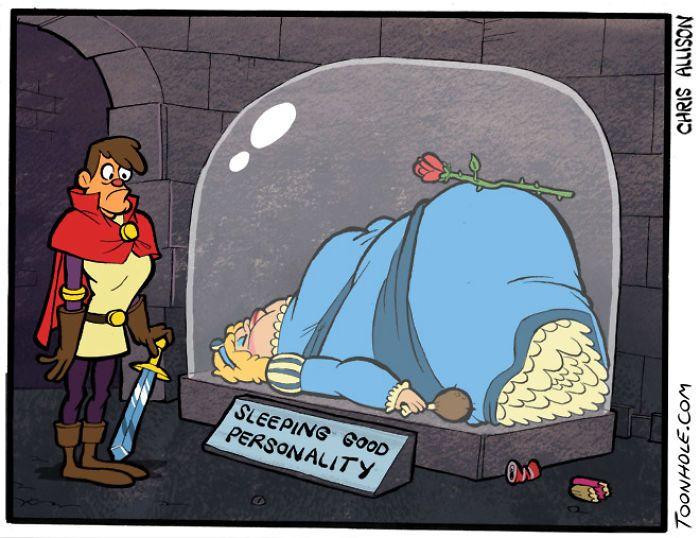 Взрослые комиксы по мотивам детских сказок