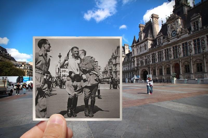 100-летние изменения Парижа на фото Жюльена Кнеза
