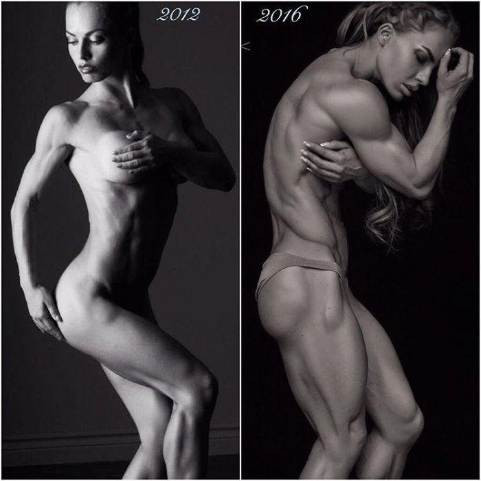 35-летняя культуристка Элеонора Добрынина с невероятно рельефным телом