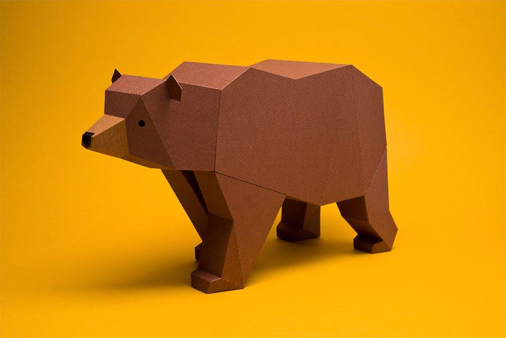 Геометрические скульптуры из бумаги от Estudio Guardabosques