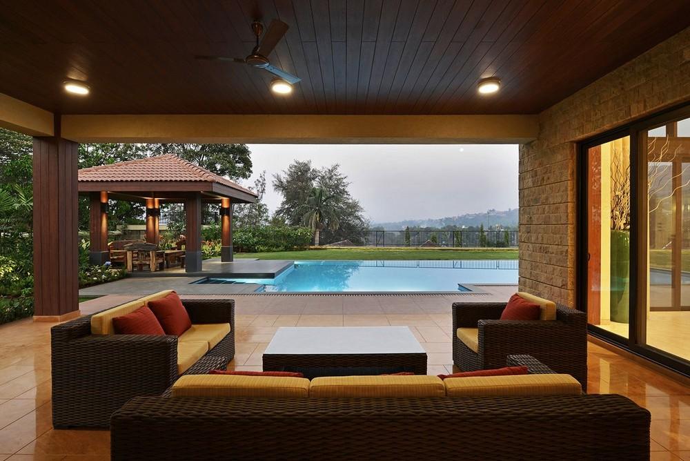 Стильный дизайн виллы в Индии