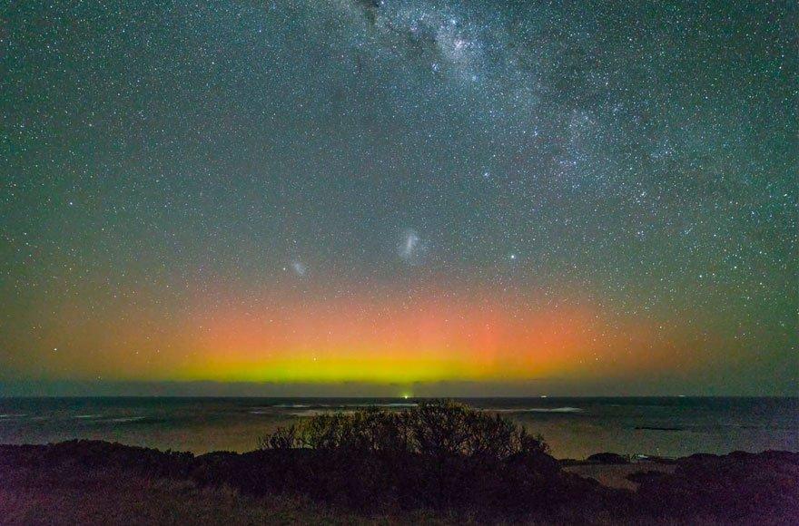 Полярное сияние над Австралией