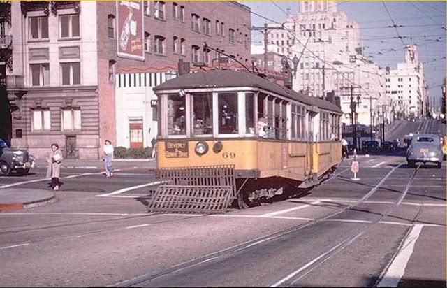 Цветные фото мирного Лос-Анджелеса в годы Второй мировой и после
