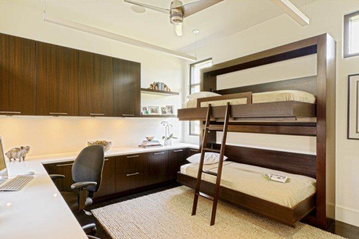 Как двухъярусная кровать может сэкономить место в квартире
