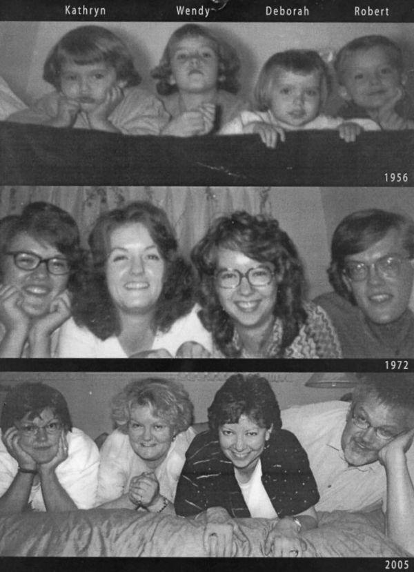 Воссоздание детских снимков из семейного альбома