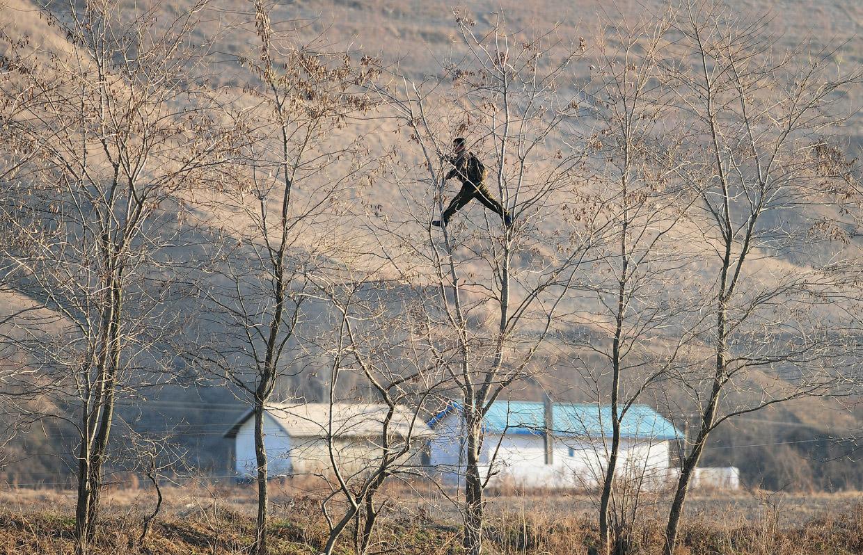 Граница КНДР со стороны Китая и Южной Кореи